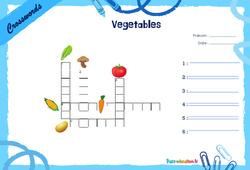 Vegetables - CE1 - CE2 - Mots fléchés - Lexique / vocabulaire - Crosswords