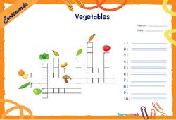 Vegetables - CM1 - CM2 - Mots fléchés - Lexique / vocabulaire - Crosswords