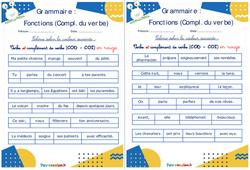 Complément du verbe (COD - COI) - Ce1 - Ce2 - Rituels - Grammaire