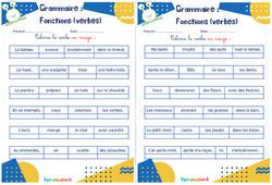 Fonctions (verbes) - Ce1 - Ce2 - Rituels - Grammaire