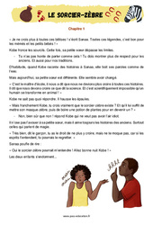 Le sorcier-zèbre – Ce1 – Ce2 – Récit – Lecture