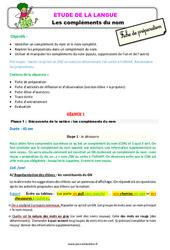 Les compléments du nom – Ce2 – Étude de la langue – Fiche de préparation