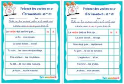 Présent des verbes en ir (Terminaisons : is - it) - Ce1 - Ce2 - Rituels - Conjugaison