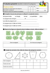 Identifier et décrire les polygones – Ce2 – Evaluation avec la correction