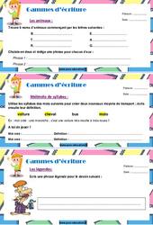 Gammes d'écriture - série 1 - Ce1 - Ce2 - Rédaction - Production d'écrit