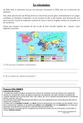 Colonisation – Exercices – Colonies et migrations au XIX ème siècle – Cm2 – Cycle3