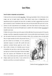 Les fées - 6ème - Lecture - Conte