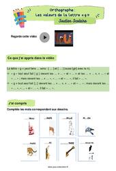 Les valeurs de la lettre «g» - CE2 - Soutien scolaire pour les élèves en difficulté.