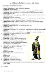 Le médecin malgré lui de Molière – 6ème – Lecture théâtrale