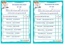 Terminaisons des verbes (é - ez) - Ce1 - Ce2 - Rituels - Conjugaison