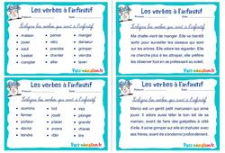 Les verbes à l'infinitif - Ce1 - Ce2 - Rituels - Conjugaison