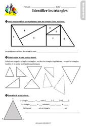 Identifier les triangles – Ce2 – Exercices avec les corrigés