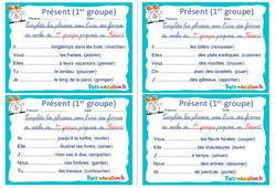 Présent (1er groupe) - Ce1 - Ce2 - Rituels - Conjugaison
