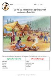La vie des hommes au néolithique - Ce2 - Cm1 - Exercices