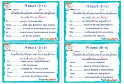 Présent (être) - Ce1 - Ce2 - Rituels - Conjugaison