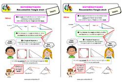 Reconnaître l'angle droit – Ce1 – Leçon