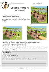 La vie des hommes au néolithique - Ce2 - Cm1 - Documentaire - Exercices