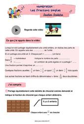 Les fractions simples - CM1 - Soutien scolaire pour les élèves en difficulté.