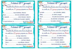 Présent (2ème groupe) - Ce1 - Ce2 - Rituels - Conjugaison