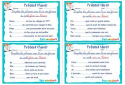 Présent (faire et dire) - Ce1 - Ce2 - Rituels - Conjugaison