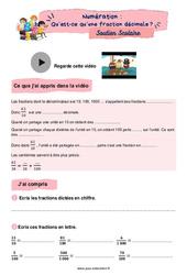 Qu'est-ce qu'une fraction décimale? - CM2 - Soutien scolaire pour les élèves en difficulté.
