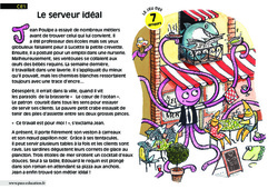 Le serveur idéal - Ce1 - Lecture - Compréhension fine - Inférences