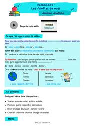 Les familles de mots - Cm2 - Soutien scolaire pour les élèves en difficulté.