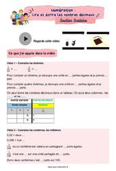 Lire et écrire les nombres décimaux - CM2 - Soutien scolaire pour les élèves en difficulté.