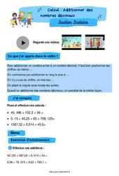 Additionner des nombres décimaux - CM2 - Soutien scolaire pour les élèves en difficulté.