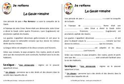 Gaule romaine – Ce2 – Cm1 – Leçon – Romanisation de la Gaule