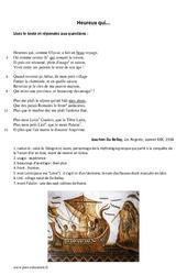 Heureux qui, comme Ulysse – 5ème – Poésie – Lecture