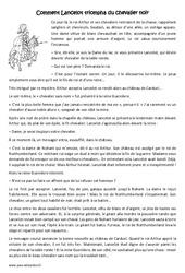 Comment Lancelot triompha du chevalier noir - Conte - Cm2 - Lecture