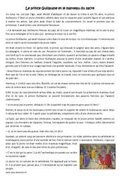 Le prince Guillaume et le manteau du sacre - Cm2 - Conte - Lecture