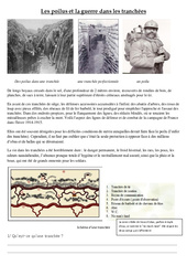 Les poilus et la guerre dans les tranchées – 1ère guerre mondiale – Leçon – XXe siècle – Cm2 – Cycle3