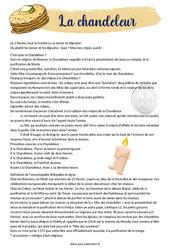Chandeleur - Cm1 - Cm2 - Lecture - Texte informatif - Documentaire- Cycle 3