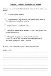 Ecrire la situation initiale d'un récit - Ce2 - Exercices - Le conte - Cycle 3