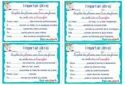 Imparfait (être) - Cm1 - Cm2 - Rituels - Conjugaison