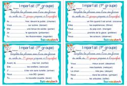 Imparfait (1er groupe) - Cm1 - Cm2 - Rituels - Conjugaison