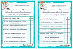 Les verbes en ger - Cm1 - Cm2 - Rituels - Conjugaison