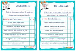 Les verbes en cer - Cm1 - Cm2 - Rituels - Conjugaison