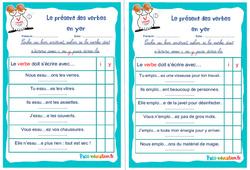 Le présent des verbes en yer - Cm1 - Cm2 - Rituels - Conjugaison
