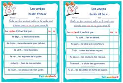 Les verbes  en ier et en ir - Cm1 - Cm2 - Rituels - Conjugaison