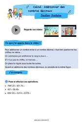 Additionner des nombres décimaux - CM1 - Soutien scolaire pour les élèves en difficulté.