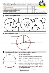 Identifier et tracer des cercles – Ce2 – Evaluation avec la correction