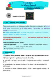Le champ lexical - Cm1 - Soutien scolaire pour les élèves en difficulté.