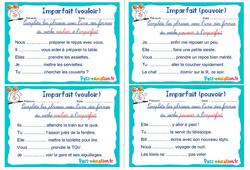 Imparfait (vouloir et pouvoir) - Ce1 - Ce2 - Rituels - Conjugaison