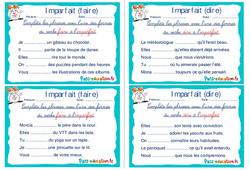 Imparfait (faire et dire) - Ce1 - Ce2 - Rituels - Conjugaison