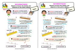 Repérer et tracer des droites, des segments et des points alignés – Ce1 – Leçon