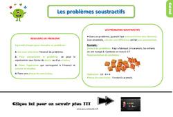 Leçon, trace écrite sur les problèmes soustractifs au Ce1