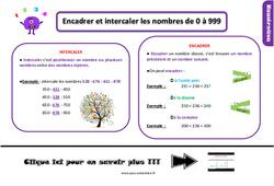 Leçon, trace écrite sur encadrer et intercaler les nombres de 0 à 999 au Ce1